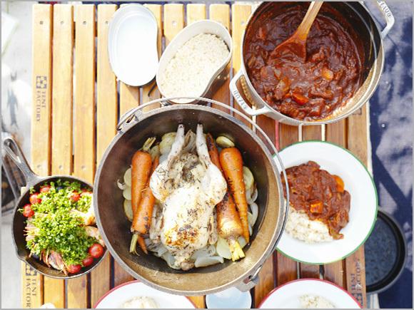 「鶏の丸焼き」と「トマトの無水カレー」の完成!
