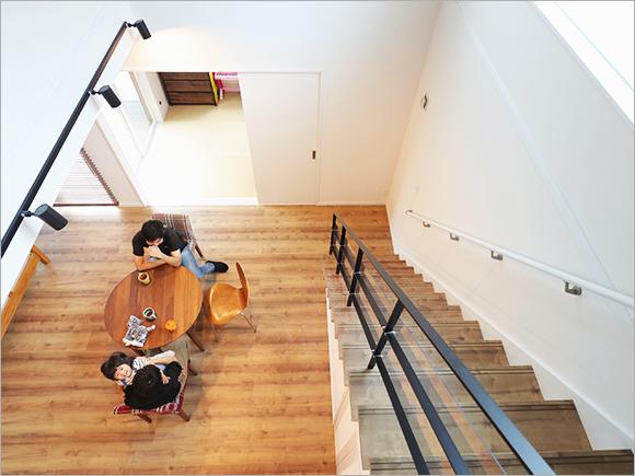 2階からの眺めは奥様のお気に入り。