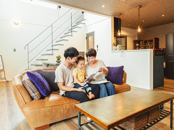 家族みんなのお気に入りのソファー。