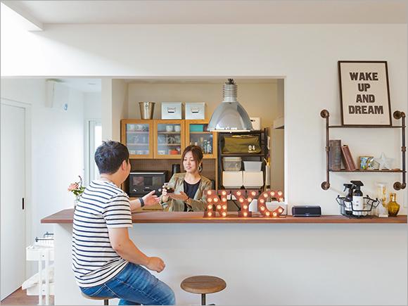 キッチンも大好きなカフェをイメージして。