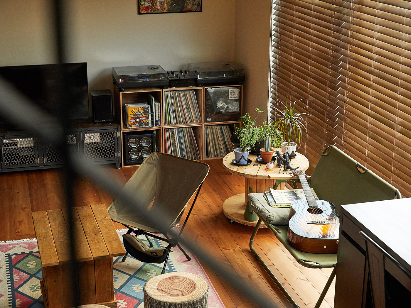 植物を置いているテーブルは、DIYしたもの。