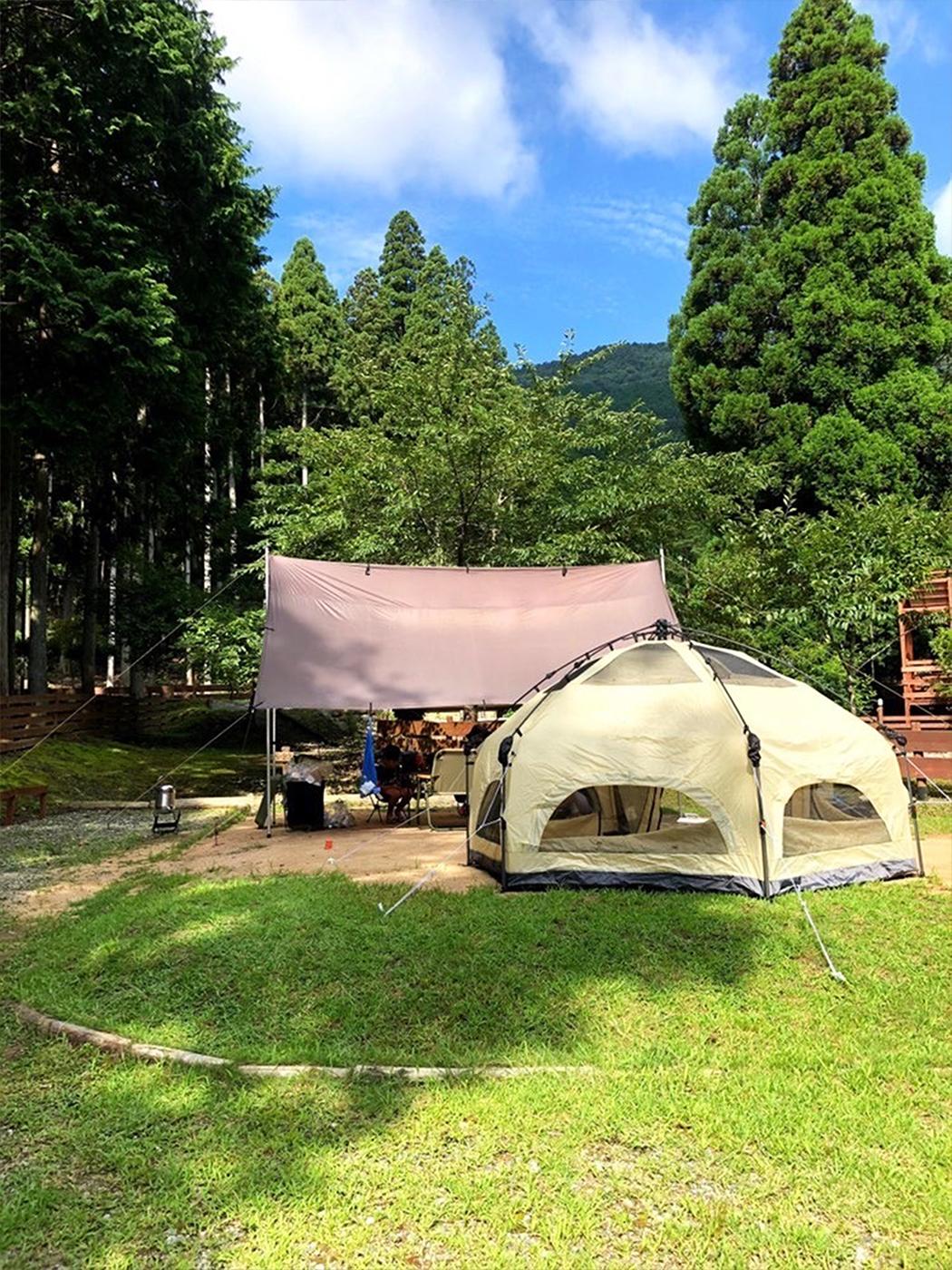少しずつ増やしているというキャンプ道具。