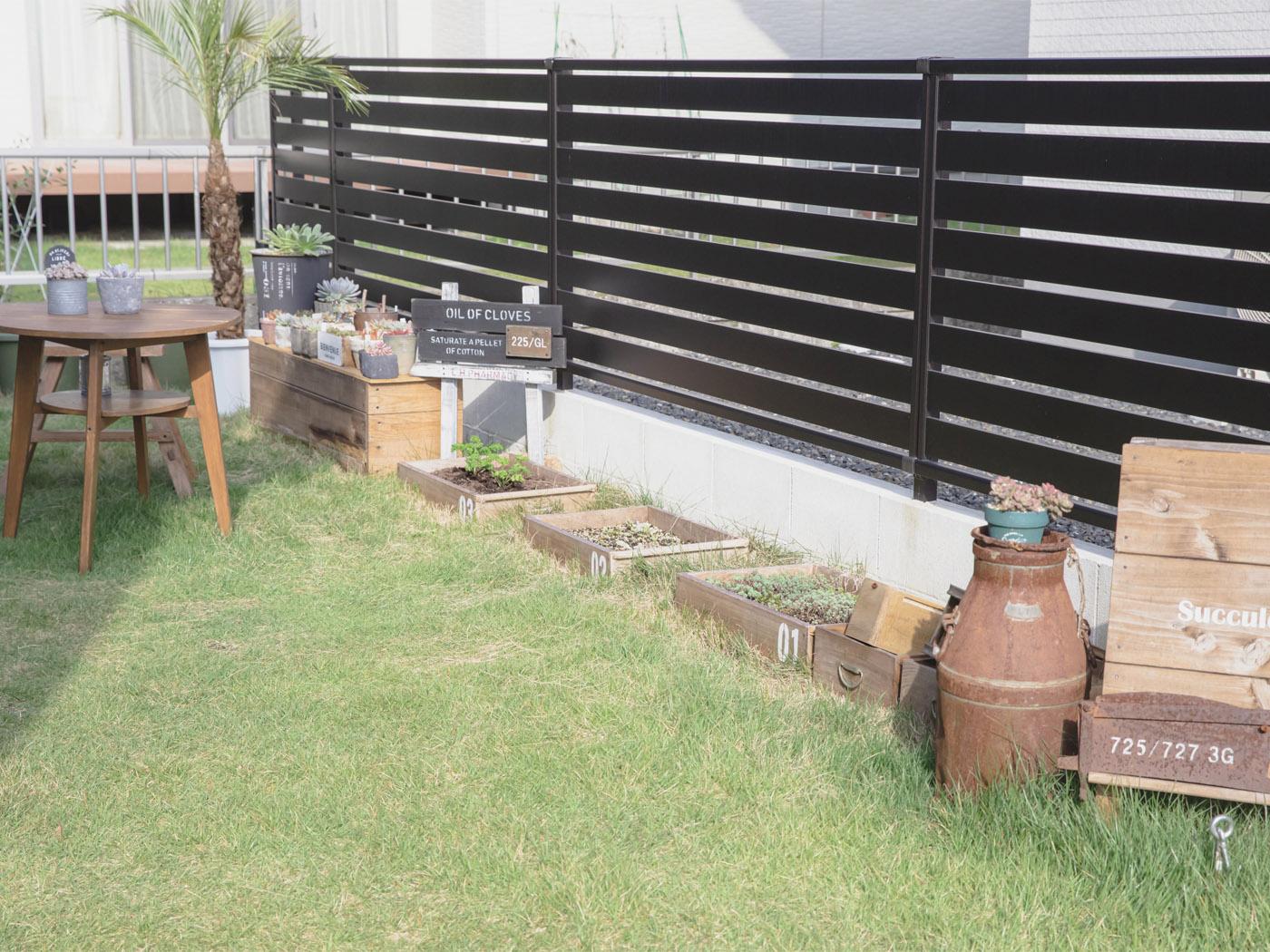 庭の一角を用いた家庭菜園では、トマトやブロッコリーを育てているそう。