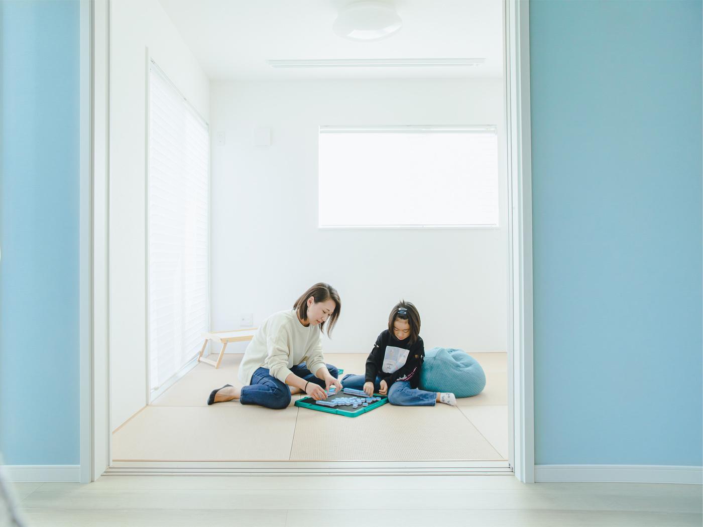 +BOXは和室にして子供たちの遊び場に。