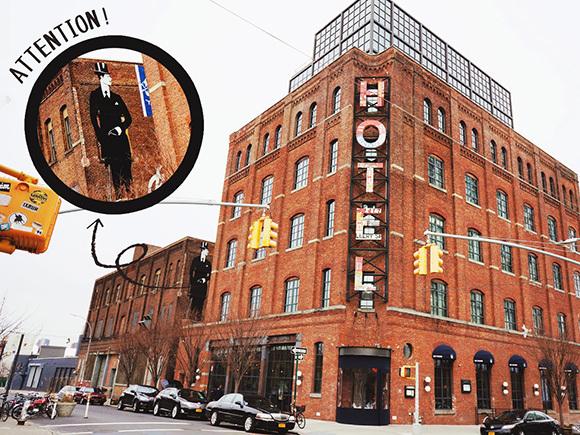 Wythe Hotelはウィリアムズバーグ地区のシンボル的な建物。20世紀初めに建てられた元縫製工場をリノベーションしてるそう。次回はぜひ泊まってみたい!