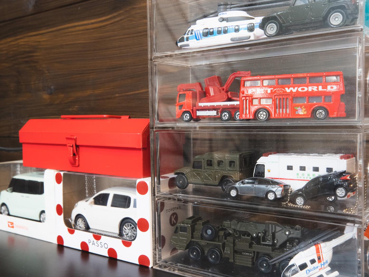 旦那さまが集めているミニカーのコレクション。