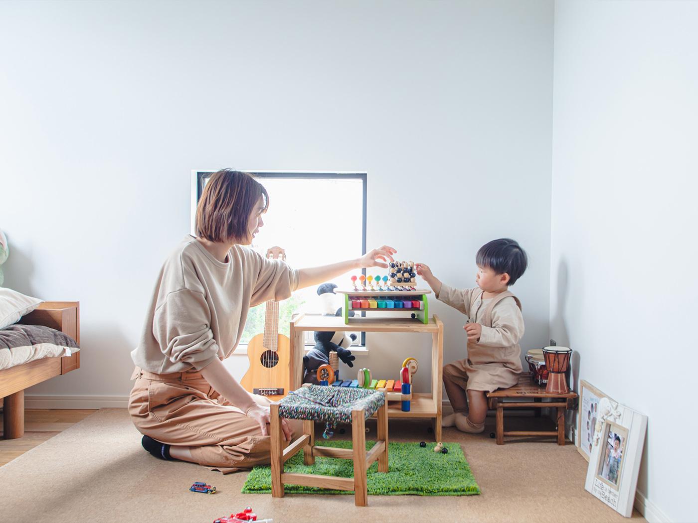 お子さんお気に入りの子ども部屋。