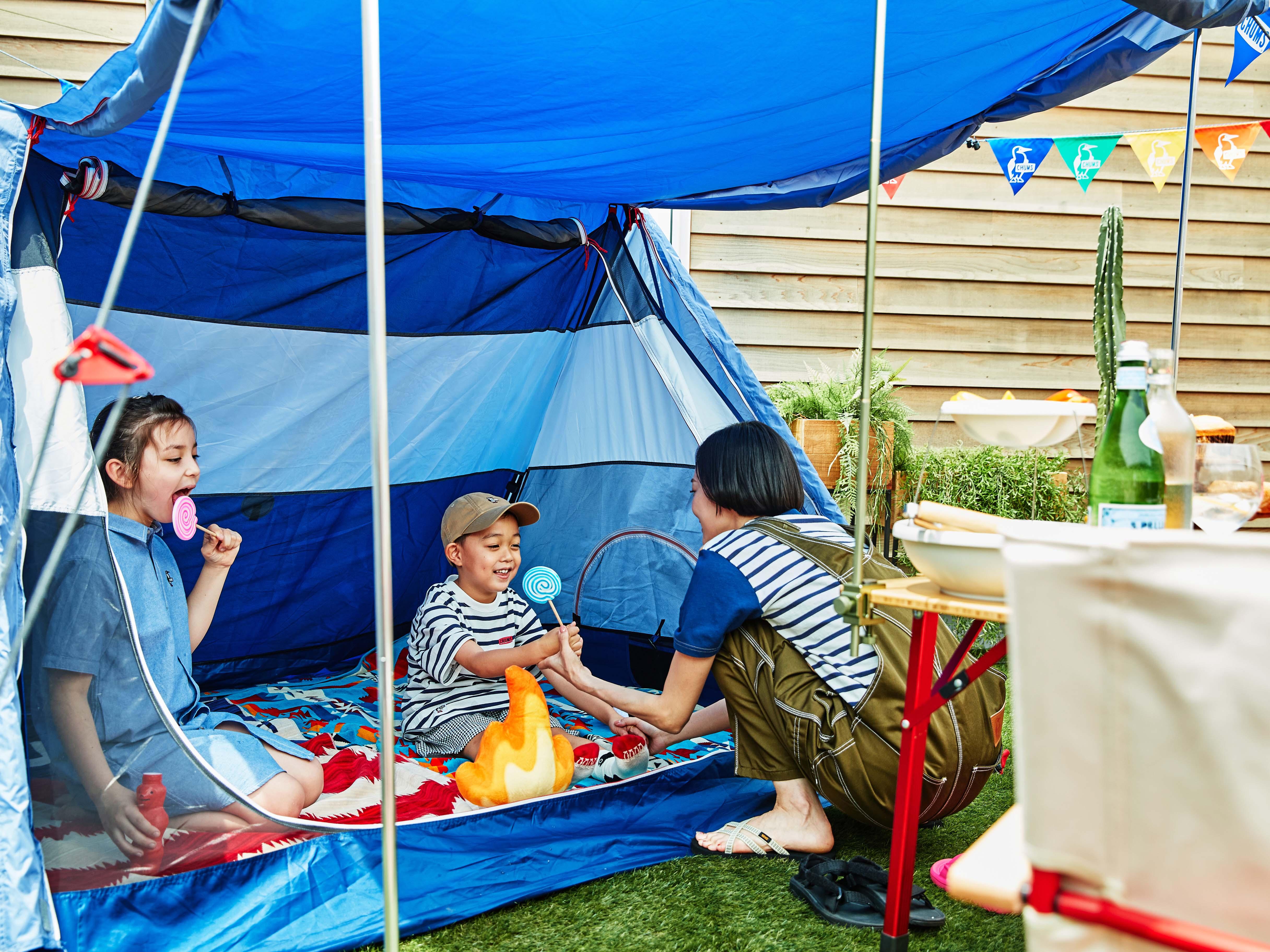 テントで熱中症対策もバッチリ