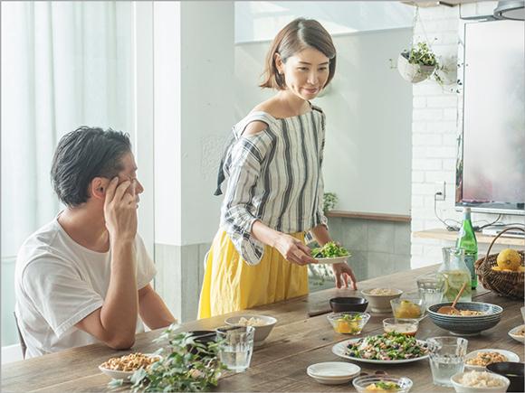ご主人の谷尻誠さんも一緒に食卓を囲みました。