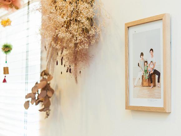 家族4人での思い出の写真。