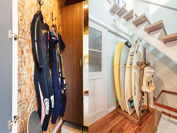 サーフィンやスケボーをするためのアイデア。