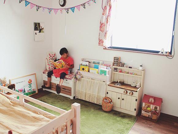 女の子らしく可愛い子供部屋