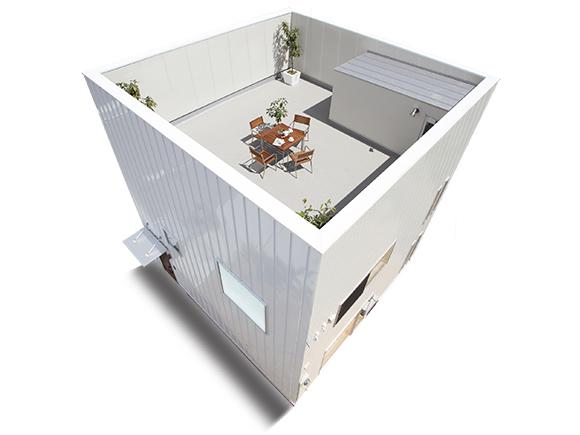 開放感あふれるプライベートゾーンが楽しめるZERO-CUBE+SKYBALCONY。  自宅でリゾートライフが楽しめます。  プライベートな露天風呂、ラタン調の家具とタイルのバランス。  オシャレなリゾート空間が自宅の屋上にある暮らしのご提案。  非日常な空間があなたの日常に。  ぜひ、ご体感ください。  グッドデザイン賞受賞住宅!!  ムダを削ぎ落としたシンプルな外観と、定額のオプションプラン+FUNでグッドデザイン賞を受賞!  「完全予約制」の完成現場見学会です。  弊社では、来場されたお客様にじっくり見ていただくため、  「完全予約制」とし、各時間帯に1組様限定でご案内させていただいております。  保育士が常駐していますので、お子様連れのご家族様も安心してお越し頂けます。(託児所完備)  お早めのご予約をお待ちしております。   ※画像はイメージです。