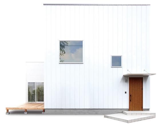 1,000万円からはじまる、新しい家づくりのカタチができました。洗練されたシンプルな四角い家をベースに、「+FUN」のオプションであなただけのコダワリを追加していく、新しい発想のセミオーダー型デザイン住宅。